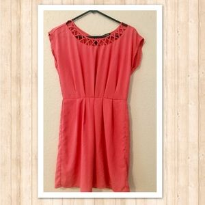Size Small Coral Zip up dress